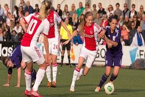 Ajaxvrouwen vandaag tegen Standard Luik