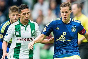 Ajax ook onderuit in Euroborg tegen Groningen: 2-0