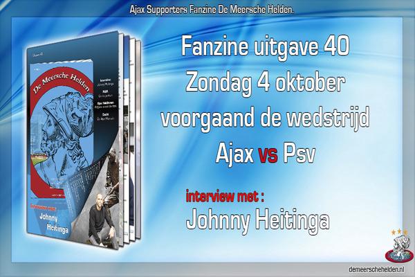Zondag verkoop De Meersche Helden uitgave 40 met interview Johnny Heitinga