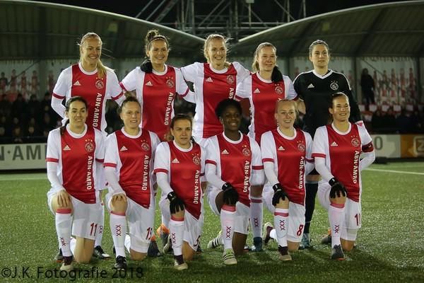 Ajax Vrouwen spelen gelijk tegen SC Heerenveen en naderen koploper FC Twente