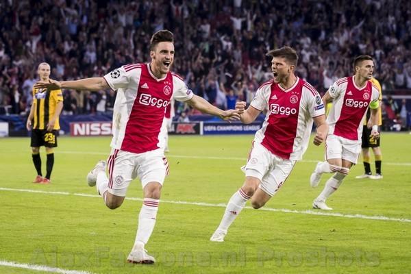 Ajax viert terugkeer in Champions League met 3-0 overwinning op AEK Athene