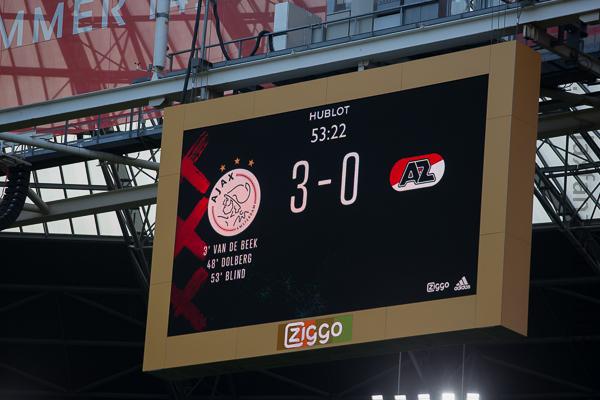 Ajax - AZ naar 14:30 uur, 7500 supporters gratis toegang