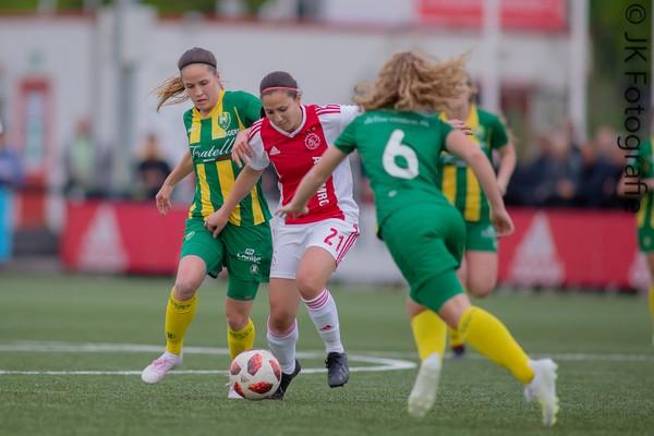 Ajax Vrouwen winnen ook uitwedstrijd tegen ADO: 0-3