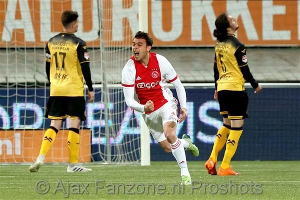 Jong Ajax in slotfase naast Roda JC: 2-2