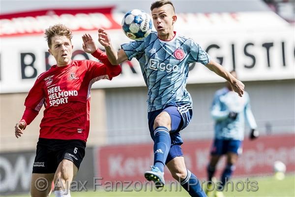 Jong Ajax speelt gelijk op bezoek bij Helmond Sport: 1-1