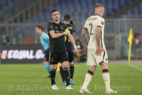 Europa League avontuur voorbij voor Ajax na 1-1 in Rome